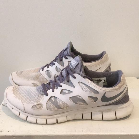 myyntipiste myytävänä uusi tyyli valtava valikoima 14 men's Nike Free Run 2 sneaker white and grey